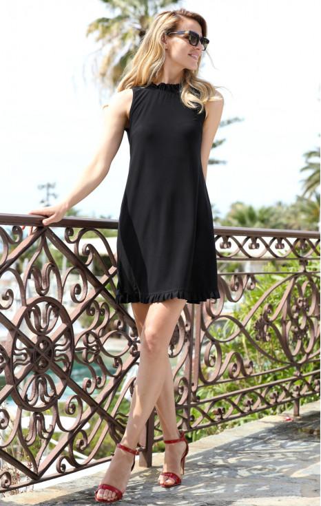 Елегантна рокля от луксозно,тежко падащо жарсе