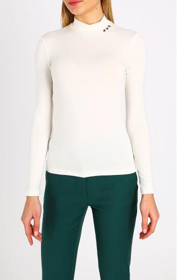 Класическа блуза с поло яка и акцент