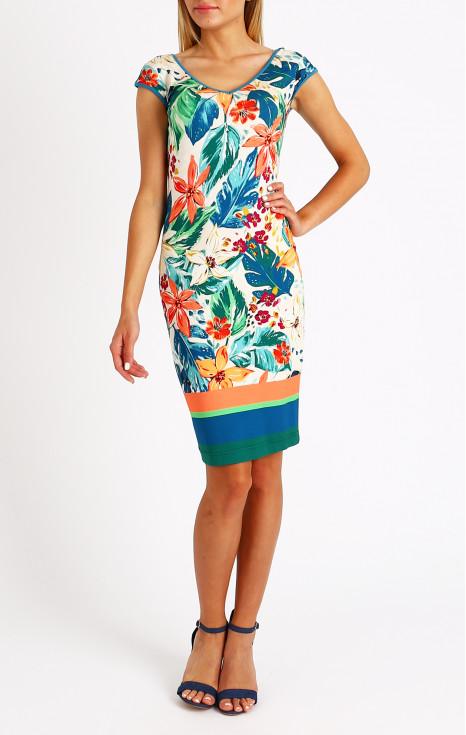 Красива рокля от еластично трико