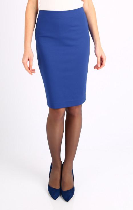 Елегантна пола в цвят Bright Cobalt