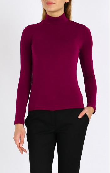 Блуза с поло яка и дълъг ръкав