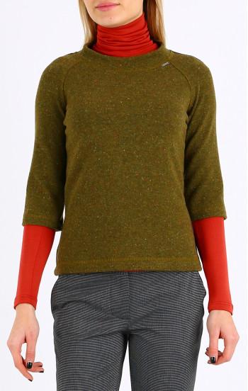 Стилен пуловер с 3/4 реглан ръкав