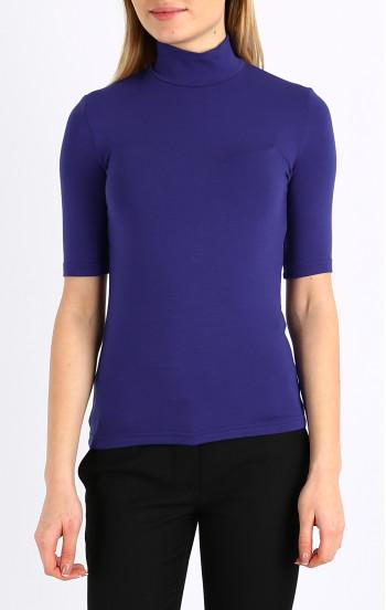 Блуза с поло яка и къс ръкав