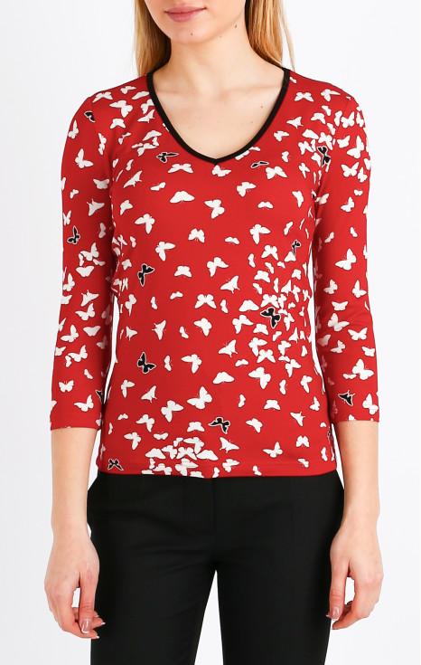 Елегантна блуза с 3/4 ръкав