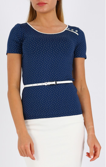 Ефектна блуза с декоративни копчета