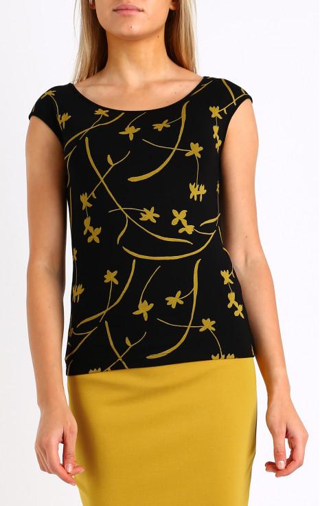 Вталена блуза от еластично трико
