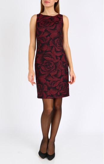 Впечатляваща рокля от релефен жакард