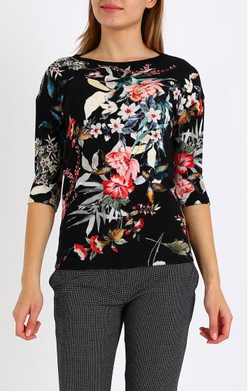 Елегантна блуза от еластична трикотажна материя