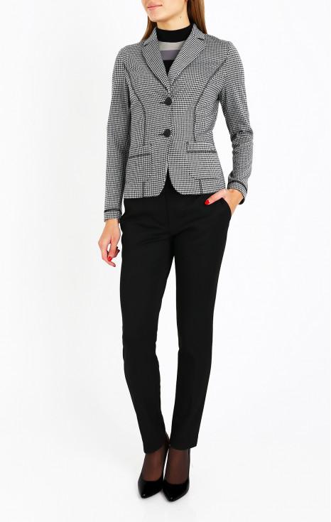Елегантно сако в монохромен десен