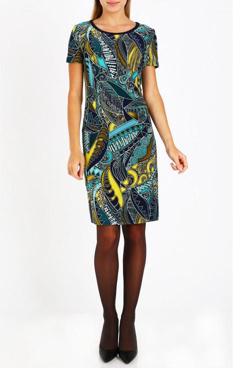 Елегантна рокля с атрактивен принт