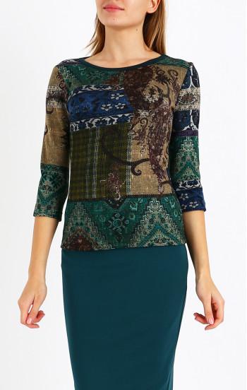 Красива блуза от луксозна трикотажна материя