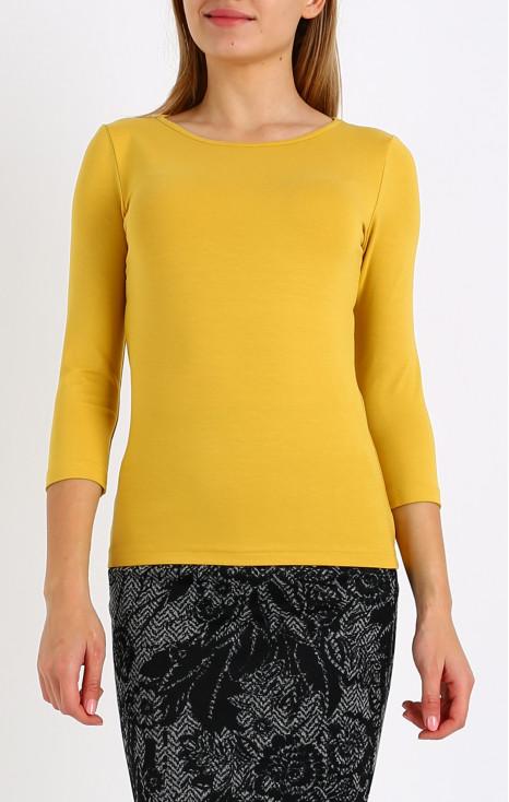 Класическа блуза с лодка деколте