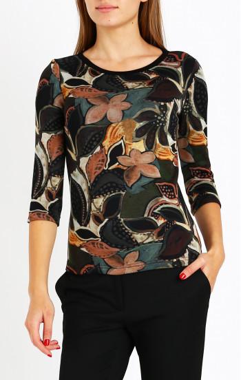 Елегантна блуза от луксозна трикотажна материя