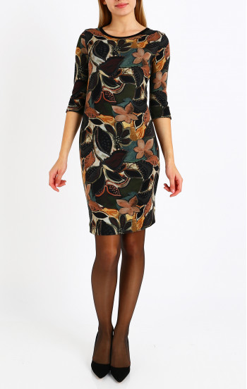 Красива рокля от луксозна трикотажна материя