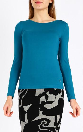 Класическа блуза с лого от кристали Swarovski
