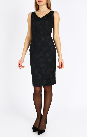 Елегантна рокля от релефен жакард