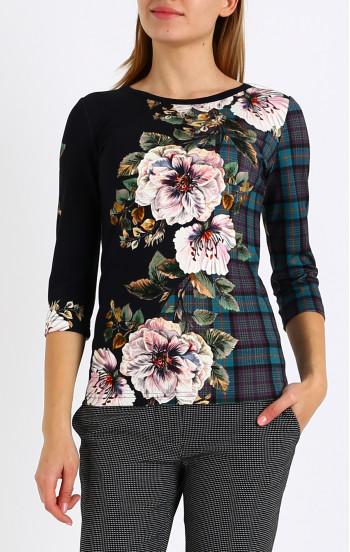 Блуза от луксозна трикотажна материя