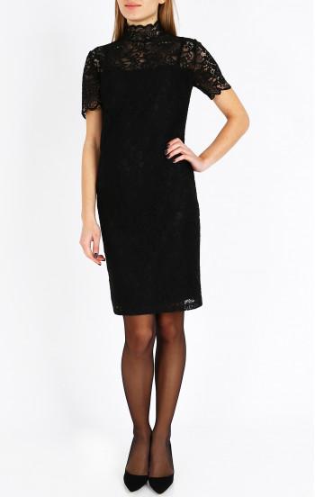 Официална рокля от черна дантела