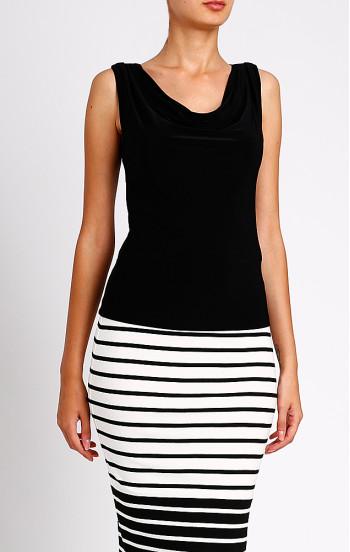 Елегантна блуза с гръцко деколте без ръкав