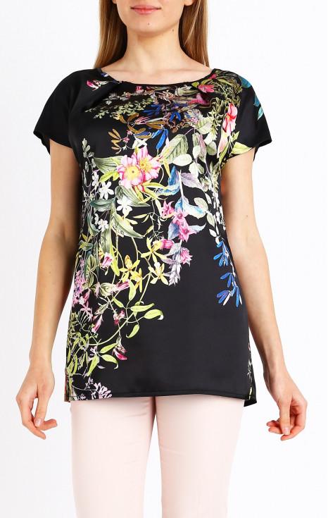 Блуза от еластичен сатен