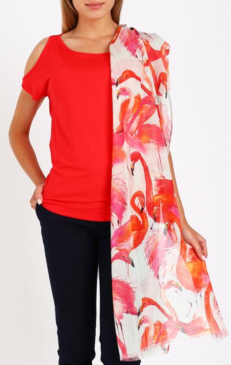 Летен шал от памук, модал и лен