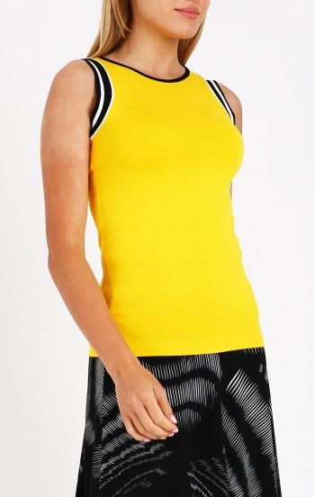 Вталена блуза в цвят нарцис