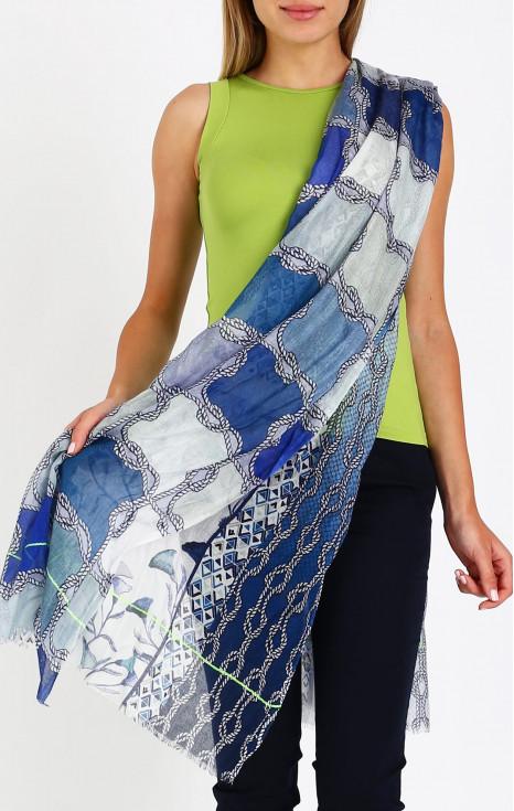 Летен шал от коприна и модал