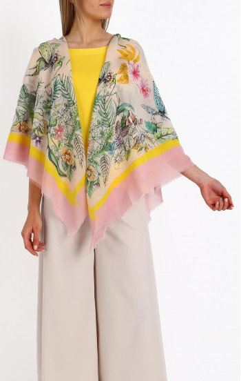 Летен шал от памук, модал и коприна