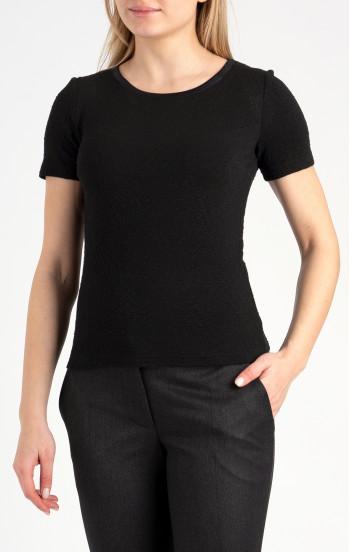 Елегантна блуза с лодка деколте и къс ръкав
