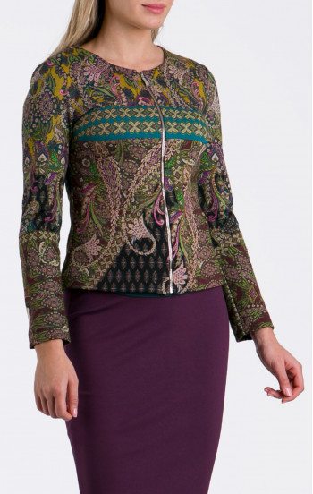 Елегантно сако от луксозна трикотажна материя