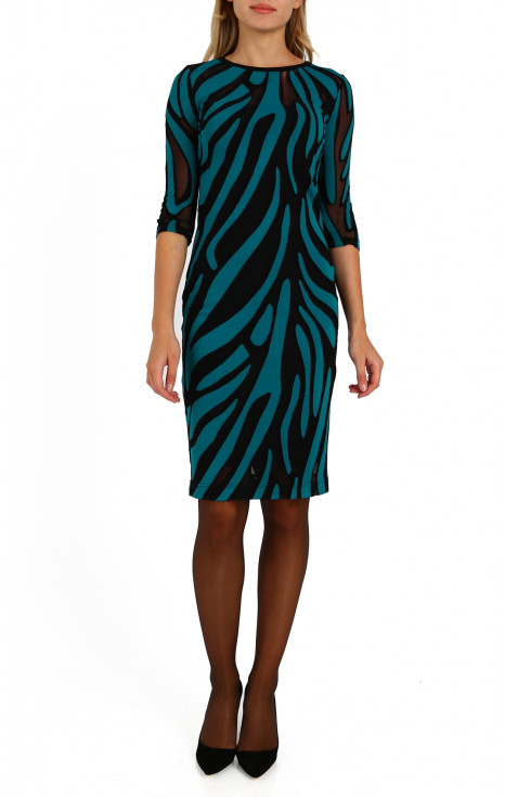 Ефирна рокля с подвижна подплата