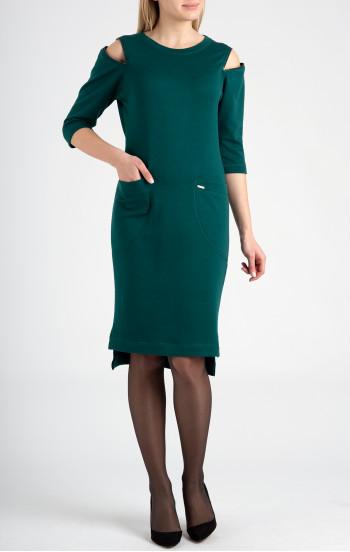 Удобна рокля от мека трикотажна материя с памук и вълна