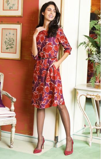Комфортна рокля от вискоза с подплата и  джобове
