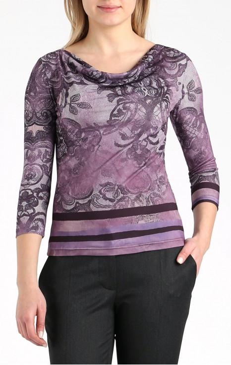 Стилна блуза с гръцко деколте