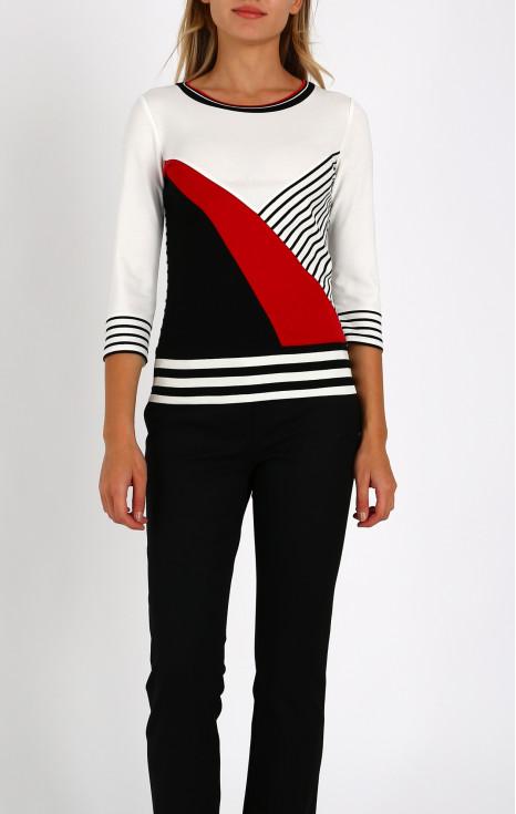 Ефектна блуза с цветни блокове