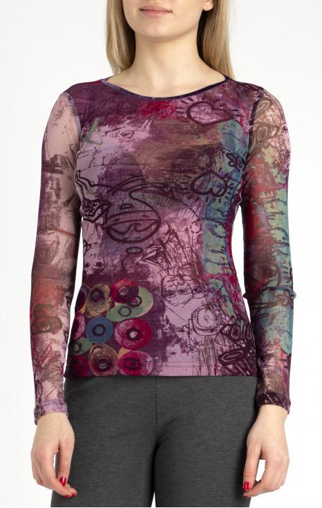 Блуза от финa мрежа