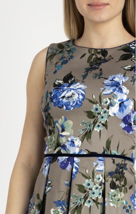 Елегантна рокля от памук