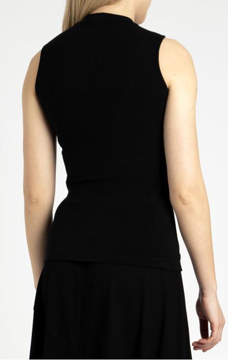Блуза с ниска поло яка