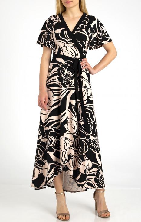 Елегантна дълга рокля тип